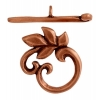 Toggle - Leaves 15mm Antique Copper